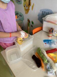 Výroba plsteného mydla